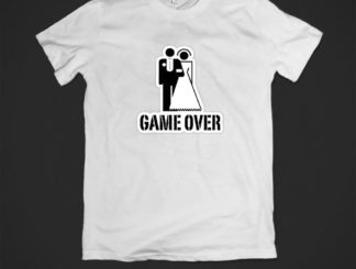 Tricou alb game over