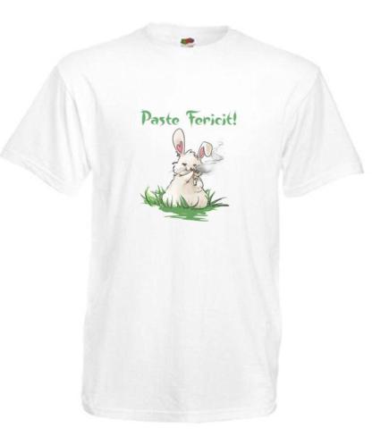 Tricou alb iepuraș
