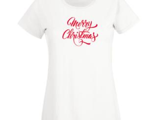 Tricou alb Crăciun