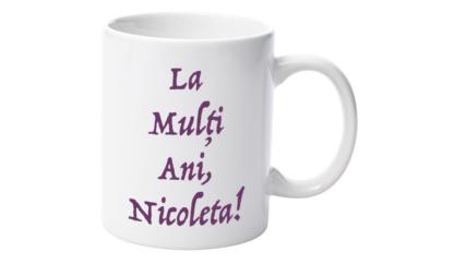 Cană nume Nicoleta