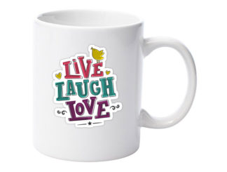 cană live laugh love