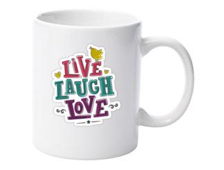 cană live laugh love