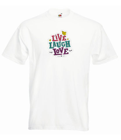 tricou live laugh love bărbați
