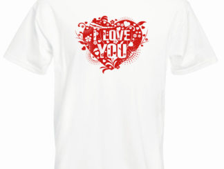 tricou love you bărbați