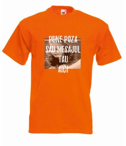 Tricou portocaliu bărbați