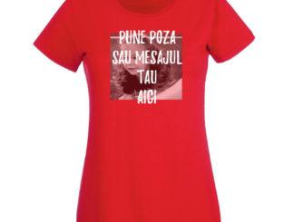 Tricou roșu femei